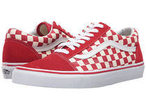 VANS OLD SKOOL Other Check Patterns Plain Toe Rubber Sole Casual Style