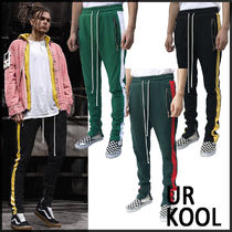Stripes Sweat Street Style Bi-color Sarouel Pants