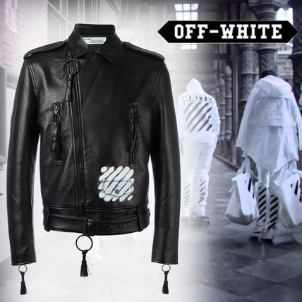 popular off-whit c/o Virgil Bloh leather jacket