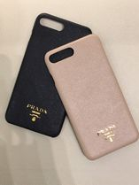 PRADA SAFFIANO LUX Plain Leather Handmade Smart Phone Cases