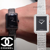 CHANEL BOY FRIEND Square Quartz Watches Stainless Elegant Style Analog Watches