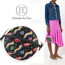 Olympia Le Tan Blended Fabrics Leather Party Style Shoulder Bags