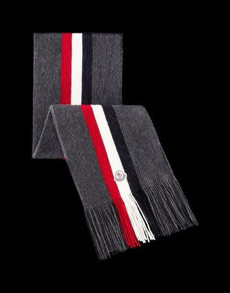 MONCLER Unisex Wool Plain Scarves