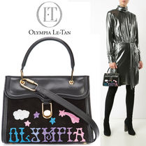 Olympia Le Tan Star Casual Style Blended Fabrics Leather Shoulder Bags
