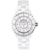 CHANEL J12 Round Quartz Watches Ceramic Elegant Style Analog Watches