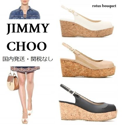 JIMMY CHOO popular 3 color wedge sandals