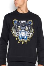 KENZO U-Neck Long Sleeves Cotton Sweatshirts