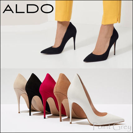 90088d02306 ... ALDO Stiletto  ALDO  Nubuck Leather Stiletto High Heel Pumps - Cassedy  ...