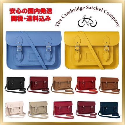 Casual Style Unisex 2WAY Plain Leather Shoulder Bags