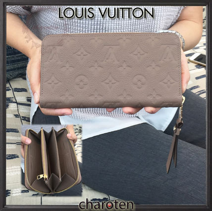 Louis Vuitton MONOGRAM EMPREINTE Monoglam Unisex Calfskin Plain Long Wallets