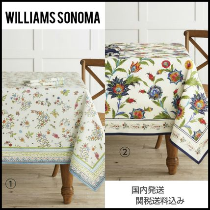 Williams-Sonoma Izni floral tablecloth cotton 100