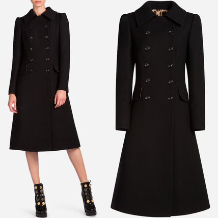 17-18 AW DG 1224 DOUBLE BREASTED WOOL CREPE COAT