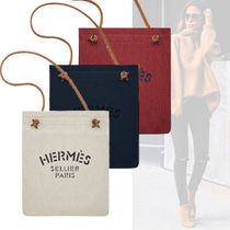HERMES Aline Canvas 2WAY Plain Totes