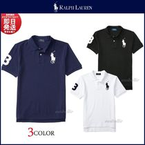 Ralph Lauren Unisex Plain Cotton Short Sleeves Polos