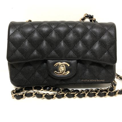 CHANEL Shoulder Bags Calfskin Chain Plain Elegant Style Shoulder Bags 2