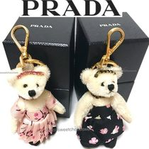 PRADA Flower Patterns Blended Fabrics Keychains & Bag Charms