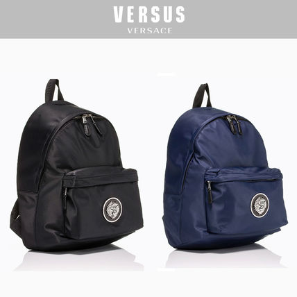 Small VERSUS VERSACE Studded Strap Nylon backpack