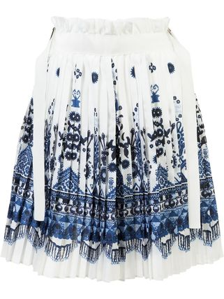 ▼ 17 SS 50% off SALE ▼ printed pleated skirt
