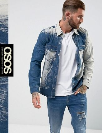 ASOS Denim Street Style Long Sleeves Shirts