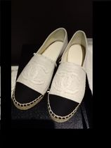 CHANEL Platform Casual Style Lace-Up Shoes