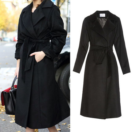Camel long coat black