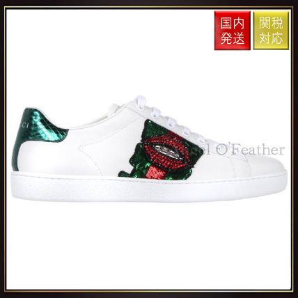 Ace Embroidered Low Top Sneakers Gucci sneakers