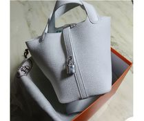 HERMES Picotin Casual Style Plain Leather Handbags