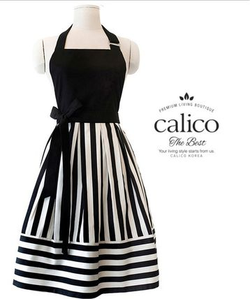 TV shows and magazines hottest apron brand-stripe black
