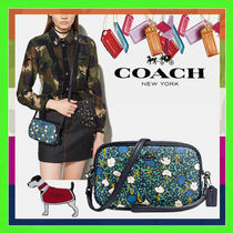 Coach Flower Patterns Casual Style 2WAY PVC Clothing Shoulder Bags