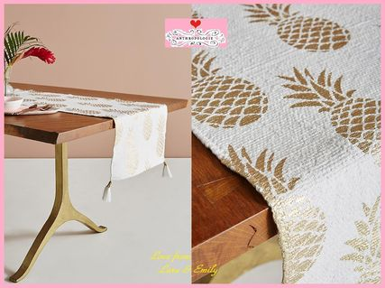 18 AW best price Anthro Golden Pineapple Table Runner