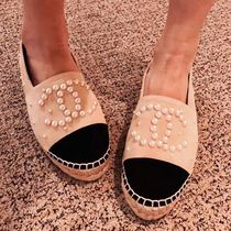 CHANEL SPORTS Platform Casual Style Suede Espadrille Shoes