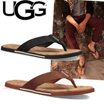 UGG Australia Plain Toe Blended Fabrics Bi-color Plain Leather