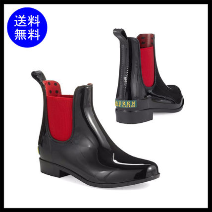 Round Toe Enamel Plain Chelsea Boots Ankle & Booties Boots