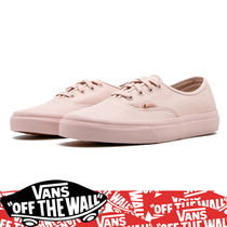 VANS AUTHENTIC Round Toe Rubber Sole Lace-up Casual Style Street Style