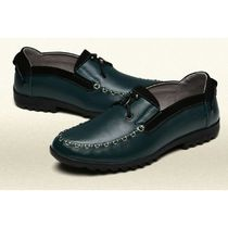 Moccasin Plain Leather Loafers & Slip-ons