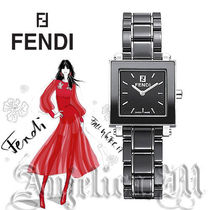 FENDI Square Quartz Watches Ceramic Elegant Style Analog Watches