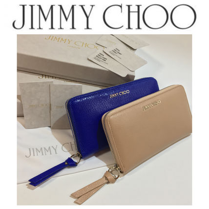 JimmyChoo PIPPA soft grain goat leather long wallet arrive