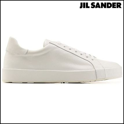 Plain Leather Sneakers