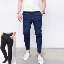 Unisex Denim Plain Joggers Jeans & Denim