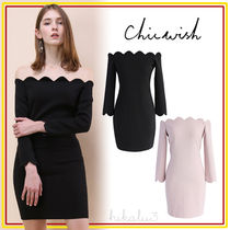 Chicwish Tight Plain Medium Elegant Style Dresses