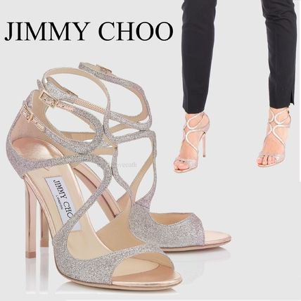 JIMMY CHOO glitter Sandals LANGFNG
