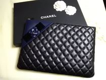 CHANEL MATELASSE Lambskin A4 Plain Clutches