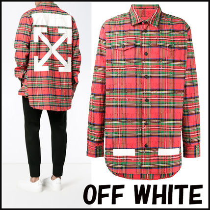17 AW OFF WHITE Chuck handle over size shirt