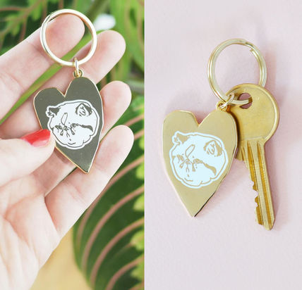 helloharriet Sad Cat's Clubhouse Keychain