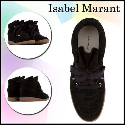 Isabel Marant Casual Style Plain Leather Platform & Wedge Sneakers