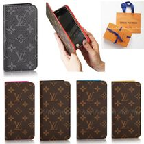 Louis Vuitton MONOGRAM Unisex Leather Smart Phone Cases