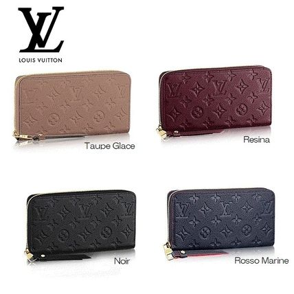 Louis Vuitton ZIPPY WALLET Monoglam Leather Long Wallets