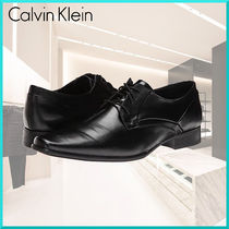 Calvin Klein Plain Toe Plain Leather Oxfords