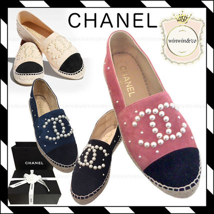 17 AW pearl ornate Espadrilles