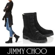 Jimmy Choo Round Toe Casual Style Suede Plain Ankle & Booties Boots